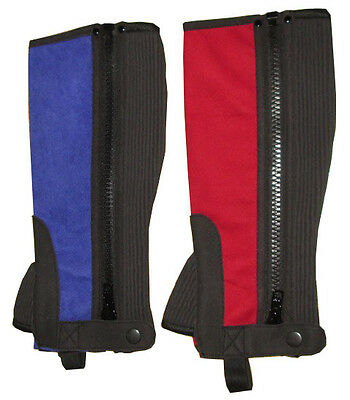 New Childrens Amara Horse Riding Chaps Red Blue Black XS Small Medium Large