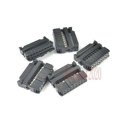 10 pcs 2.54mm Pitch 2x8 Pin 16 Pin IDC FC Female Header Socket Connector FC-16