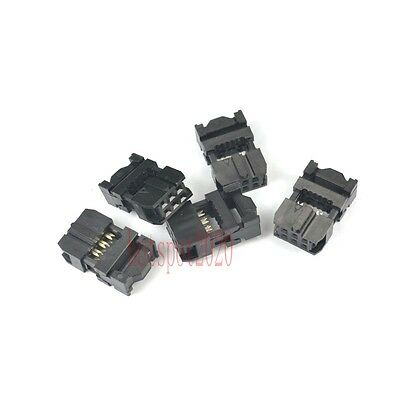 10 pcs 2.54mm Pitch 2x3 Pin 6 Pin IDC FC Female Header Socket Connector FC-6 new