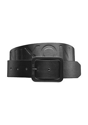 Brand NEW Discounted Mens Nixon De Facto II Leather Belt in All Black Sizes S-XL