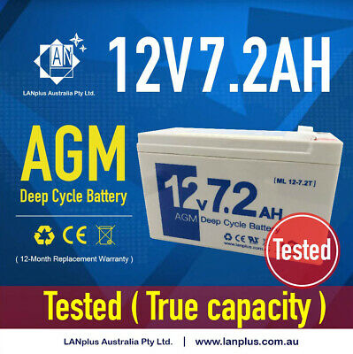 New 12V 7.2ah SLA AGM Battery for Home Alarm System Toy Car NBN Auto Gate >7Ah
