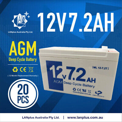 20X Brand New 12v 7.2ah 7ah UPS SLA battery for UPS Alarm Camp Light