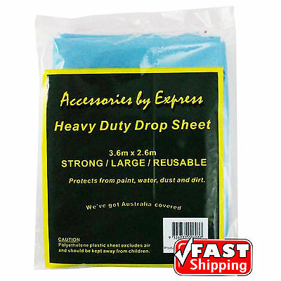Plastic Drop Sheet Heavy Duty Paint Painting Water Dust Protection Film Cover