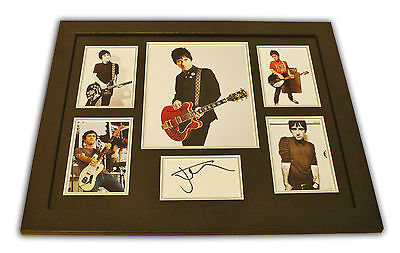 Johnny Marr Signed Photo Large Framed The Smiths Music Autograph Display + COA