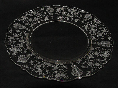 """RARE Vintage Cambridge """"ROSE POINT"""" 10 1/2"""" 3900/24 Dinner Plate - 3 Available!!"""