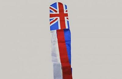 "Union Jack Windsock - 100% Nylon - 1.5m or 60"" Long Great Britain Team GB"