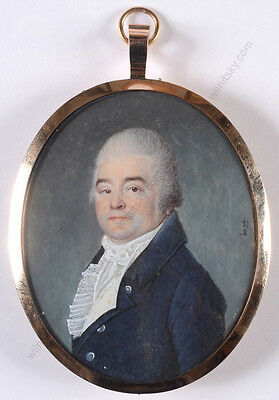 "Joseph Boze (1745-1826) ""Portrait of a gentleman"", important miniature! ca. 1800"