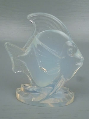 Sabino Opalescent Large Art Glass Deco Fish Figurine #1- French Crystal Poissons