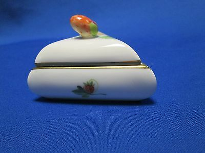 Herend. 2001 Guild Trinket Box With Strawberry On Top