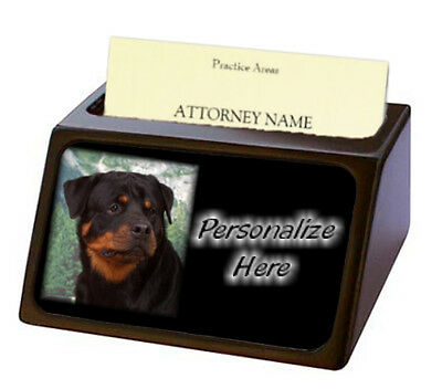 Rottweiler  ( 1 )  Pet Breed  Personalized Business Card Holder