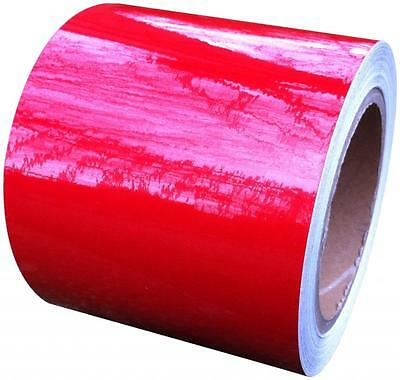 REFLECTIVE TAPE RED 100MM x 25M - WEATHERPROOF STRONG