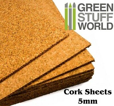 Cork Sheet in 5mm - A4 size 200x300mm - for Bases, Craft Projects, Model Trains
