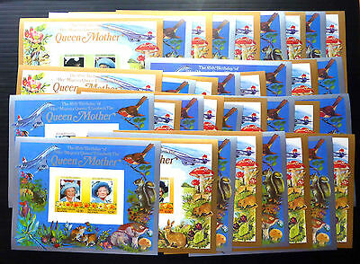 BRITISH COMMONWEALTH 1985 Queen Mother Deluxe Souvenir Sheets x 34 Imperf..FP154