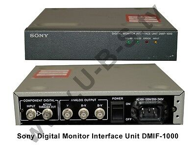 Sony DMIF1000 - Digital Monitor Interface Unit - SDI-Component