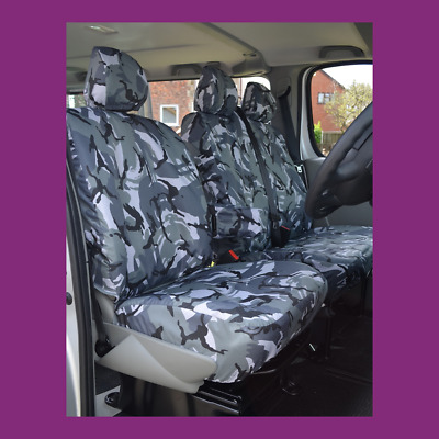 2 Fronts Nissan Terrano II Blue Camouflage Waterproof Seat Covers 2000-08