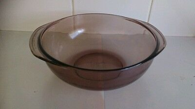 Pyrex corning NY USA clear brown baking dish/bowl #D-33 immaculate condition