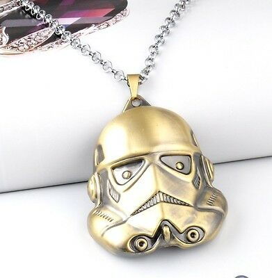 3D Hot Movie Star Wars Black and White Warrior Storm Trooper Pendant Necklace