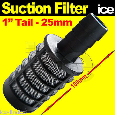 """1"""" Pressure Washer Water Inlet Feed Hose Suction Filter Strainer Tank Drum Tub"""