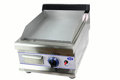 NEW HEAVY DUTY 35cm Small LPG GAS GRIDDLE HOTPLATE 11mm bed 3.1kw single