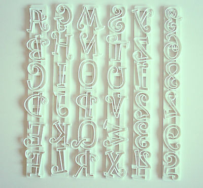 Tappit Capital Letters & Numbers, Cutters, Sugarcraft, Cake Decorating