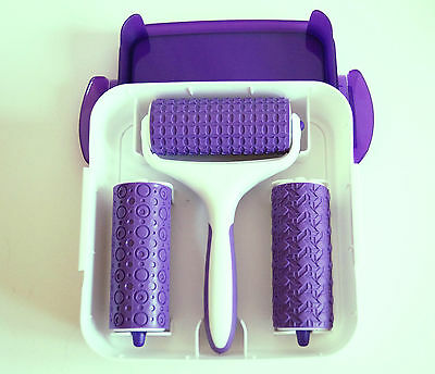 Embossing Fondant Icing Set, 3 Different Patterned Rollers, Sugarcraft