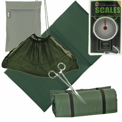 Unhooking Mat Weigh Sling Forceps and Scales 50lb x 8oz Carp Fishing Landing Mat