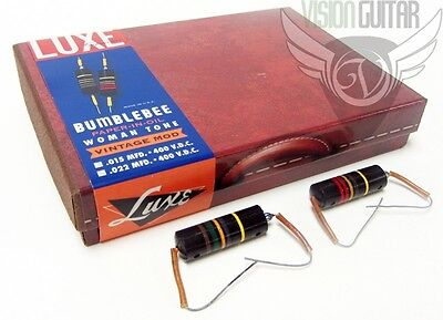 Luxe Woman Tone BUMBLEBEE (.015 & .022) Handmade Paper-In-Oil Capacitor Kit