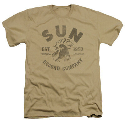 Sun Records Media Company Record Label Vintage Logo Adult Heather T-Shirt Tee
