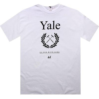 $26 Akomplice Yale Is For Rich Kids Tee (white)