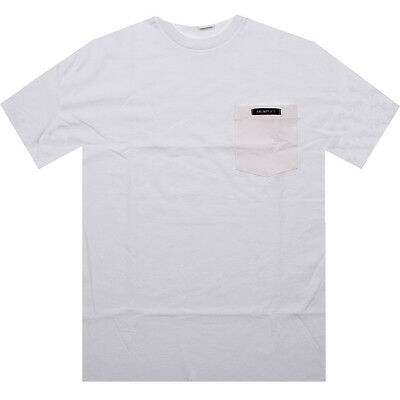 $32 Akomplice Color Bloom pocket  Tee (white / red)