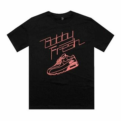 $30 Bobby Fresh Air Max 90 infrared Tee (black / neon red)