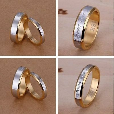 Wholesale Forever LOVE Ring Cycle 925Silver Gold Men/Women Ring Size6-10
