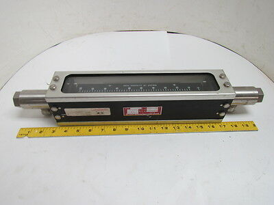 1110-08H2B1A Full View Sight Glass Flow Meter R-8M-25-2 Tube Sz 0.64 GPM 300 PSI
