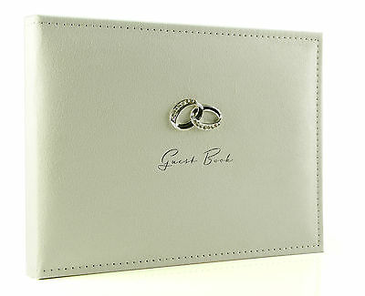 Luxury Amore Wedding Guest Book Diamante Ring Detail Wg279
