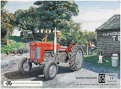 Massey Ferguson Tractor Farm Large,Med,Small Vintage Steel Wall Plaque Tin Metal