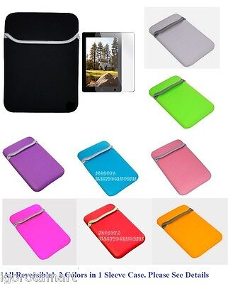Soft Sleeve Pouch Case For iPad Mini Amazon Kindle Fire HD Nexus 7 Tablet