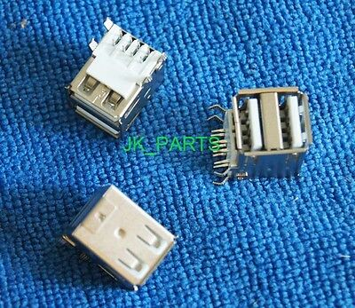 2pcs USB2.0 Dual USB Port Female Type A Connector for Computer & Peripheral