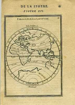 1683 Genuine Antique map of the Eastern Hemisphere . A.M. Mallet