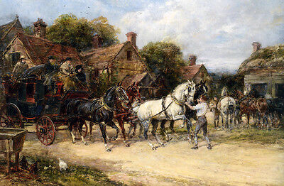 Hacking to the Meet   by Heywood Hardy   Giclee Canvas Print Repro