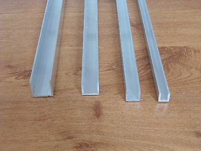 Aluminium Channel ,Alloy ,1/16inch Thick  6082t6 quality 400mm long