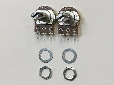 B100K 100K OHM Linear Taper Rotary Potentiometer 2 Pcs