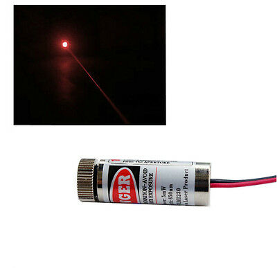 1Pcs New 5mw 650nm Industrial Grade Red Dot Laser Module/Laser Head Metal Body