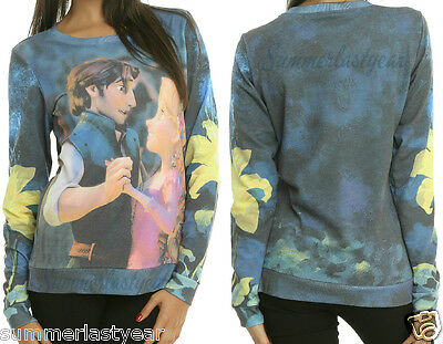 Rapunzel And Flynn Rider Dancing Juniors Long Sleeve Pullover Top Disney Tangled