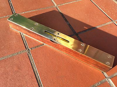 """Vintage Mahogany and Brass 12"""" Spirit Level by A H Buckley"""