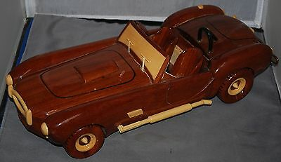 Cobra Car Model Solid Wood Hand Made Car Model Cobra Vintage Car Wood Model