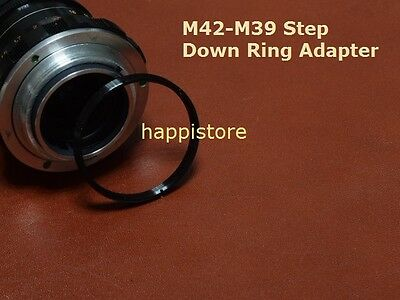 Leica M39 Pentax M42 screw mount adapter 42mm-39mm screw lens Step down ring LOT