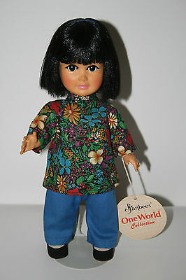 """NWT New 1983 Effanbee One World Collection Asian """"Kim"""" Doll"""