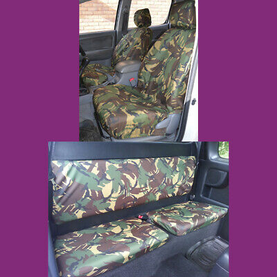 BLACK 140 TOYOTA HILUX 2005-2016 TAILORED /& WATERPROOF REAR SEAT COVERS