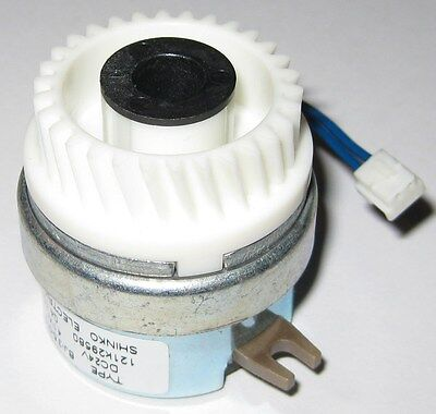 Shinko Electromagnetic Printer Clutch w/ 30 Tooth Helical Gear - 24V - BJ-3.5