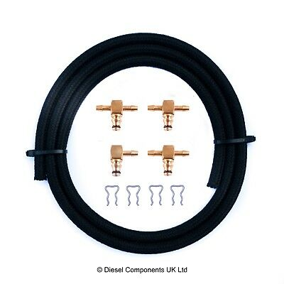 Mercedes Sprinter Injector Brass Leak Off Connector Kit 3 x 180°/1 x 90°/1m Pipe